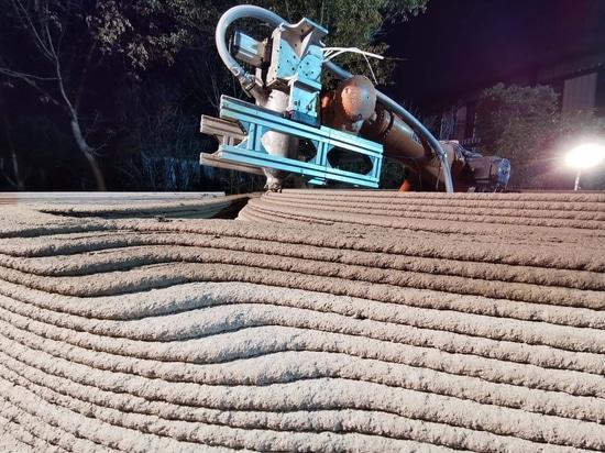 A Robot-3D Printed Concrete Book Cabin / Professor XU Weiguo's Team