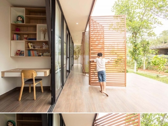 Operable Metal Screens Wrap Around The Exterior Of This Home