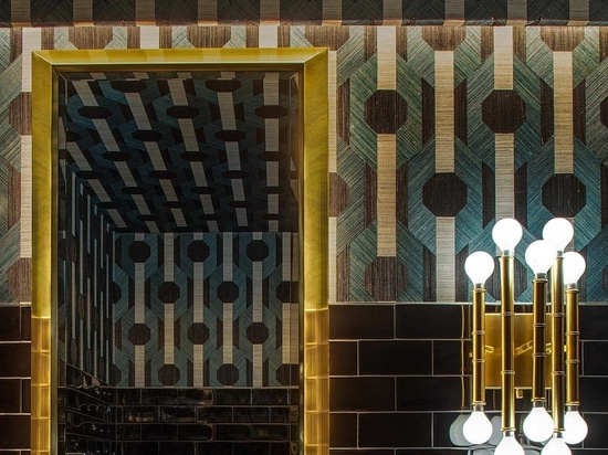 The Diagonal Tile Pattern Found Throughout This Restaurant Is A Noticeable Design Feature