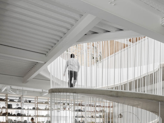 Instead Of Stairs, A Spiraling Ramp Was Designed For This Office Building
