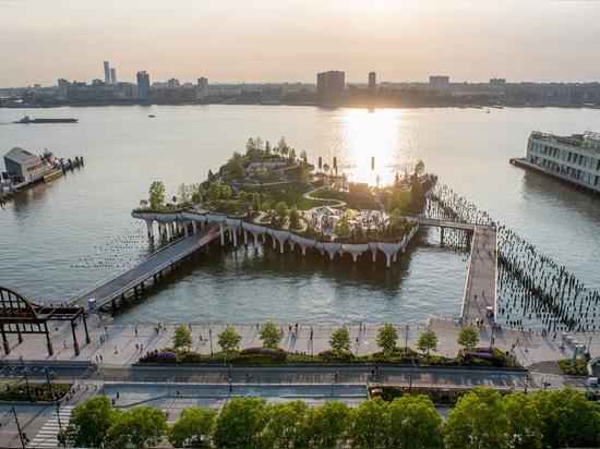 Bridges connect Little Island to the Manhattan mainland