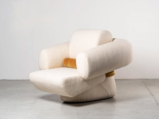 The armchair's shape is inspired by the Transformers robots