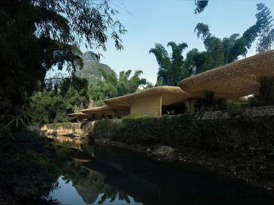 it is built along a river