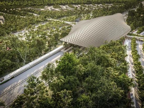 Aidia Studio tops Tulum train station with latticed roof