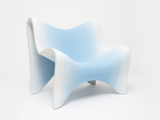 3D Printed Gradient Furniture Collection by Philipp Aduatz