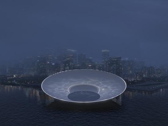 Snøhetta proposes 'lunar', a landmark of the data era for Shenzhen's Qianhai bay