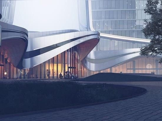 Aedas to introduce its landmark 'Guanyun Qiantang city' to the heart of Hangzhou