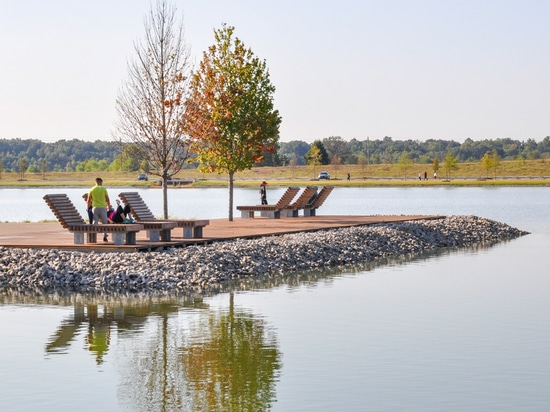 Lounging in one of America's largest urban parks
