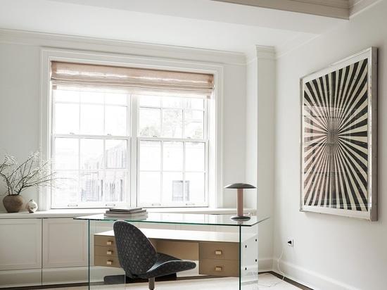 Featured: Desk by René-Jean Caillette circa 1958; Desk Chair by Étienne Fermigier circa 1967 from Demisch Danant; Table Lamp by Jos Devriendt from Demisch Danant; Artwork by Mark Grotjahn from Blum...