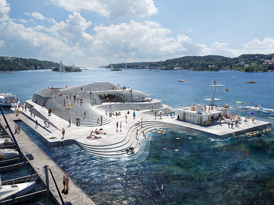Snøhetta to revive Norway's historic knubben bath to recall a natural island landform