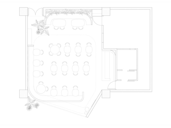 Here's a look at the layout of the cafe.