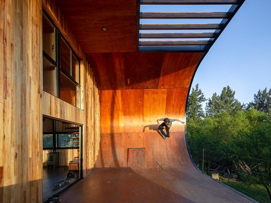 There's A Skateboard Ramp On The Exterior Of This House
