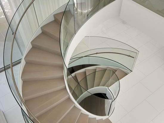 Spiral Stairs Connect Three Floors Of This Home