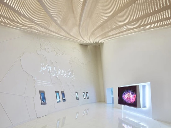 the qatar pavilion took just five months to design and build