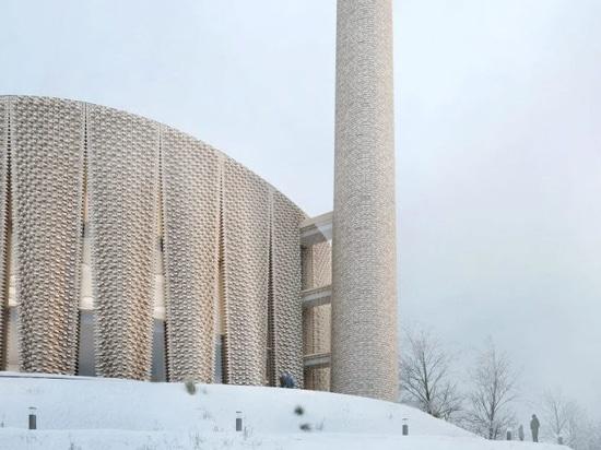A decorative brick facade would clad the mosque