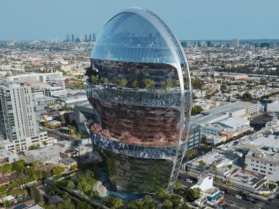 MAD Architects has designed a distinctive office block for Hollywood