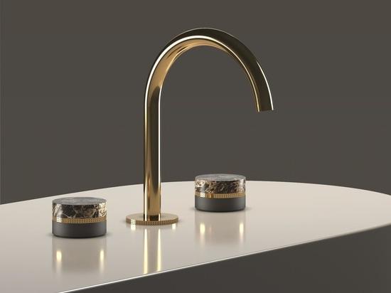 Macaron faucet handles designed in collaboration with Meneghello Paolelli Associati studio.