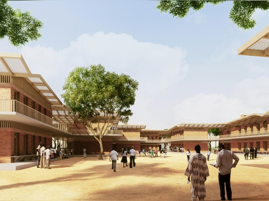 the schools are organized around central courtyards