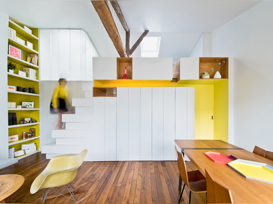 SABO project reconfigures the parisian apartment of a young fashion designer