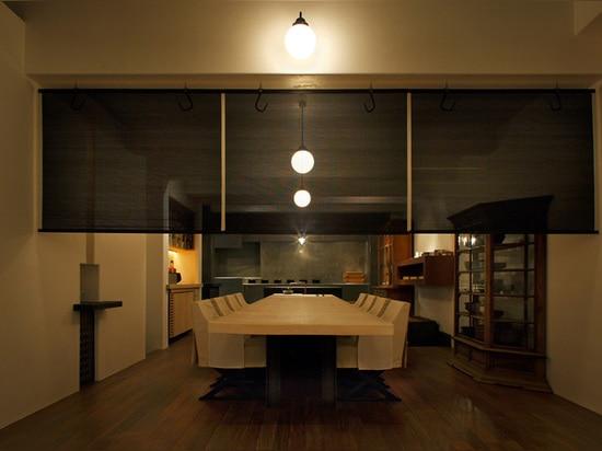 the lighting fixtures were also designed by shinichiro ogata