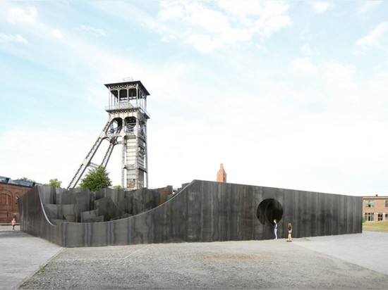 GIJS VAN VAERENBERGH INSTALLS ONE KILOMETER OF STEEL PATHWAYS AT A DISUSED MINE