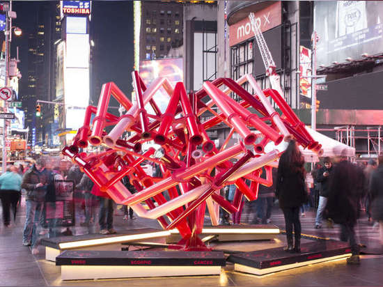 Times Square Valentine Heart by Young Projects, New York, United States