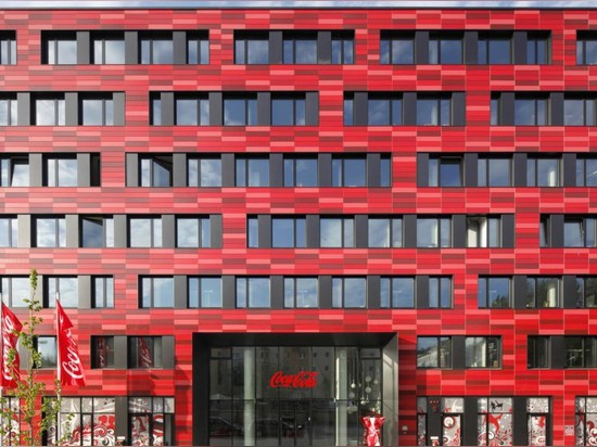 Coca Cola's bright red Berlin HQ is actually pretty green, thanks to energy-saving design