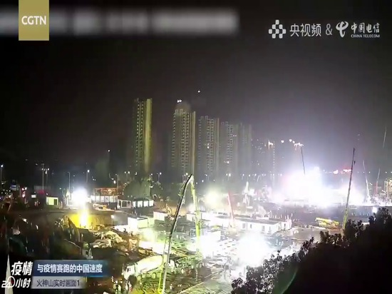 Time lapse video- Construction of Wuhan Huoshenshan Hospital completed