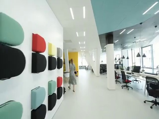 The office is designed to encourage creative work