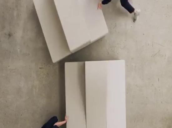 snøhetta's flexible seating system invites people to interact