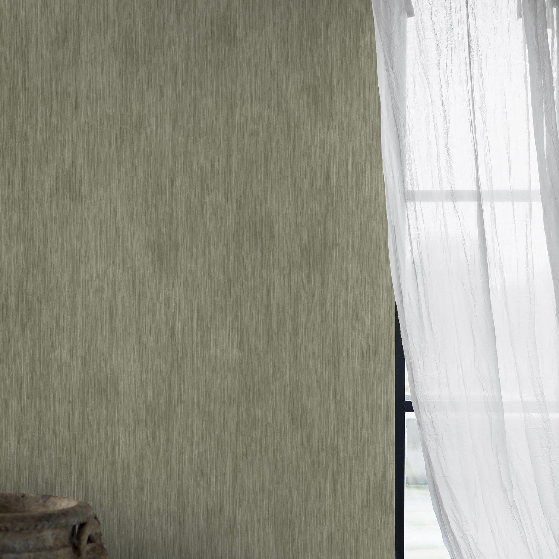 コンテンポラリー壁紙 無地 緑 Straw Eco