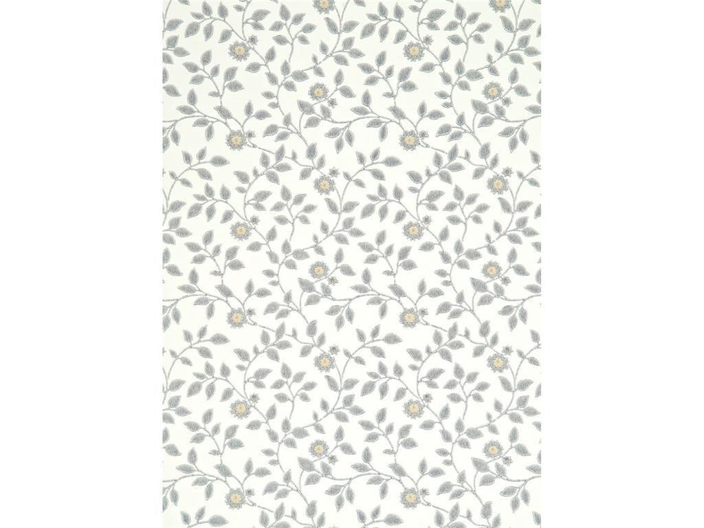 伝統的なデザイン壁紙 Flowerdene Lee Jofa 花柄 白 緑