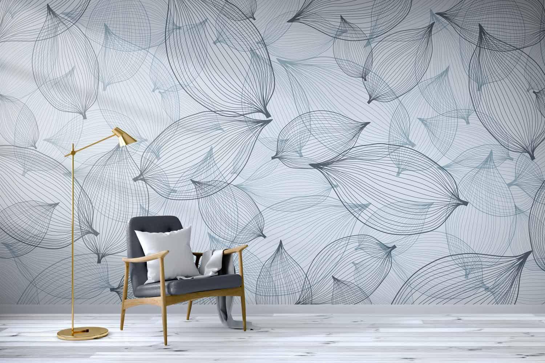 コンテンポラリー壁紙 幾何学模様 パノラマ 不織布 Linum
