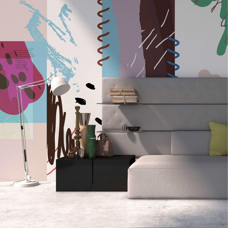 コンテンポラリー壁紙 Fs1 04 Yo2 Designs ビニール製 幾何学模様 抽象モチーフ