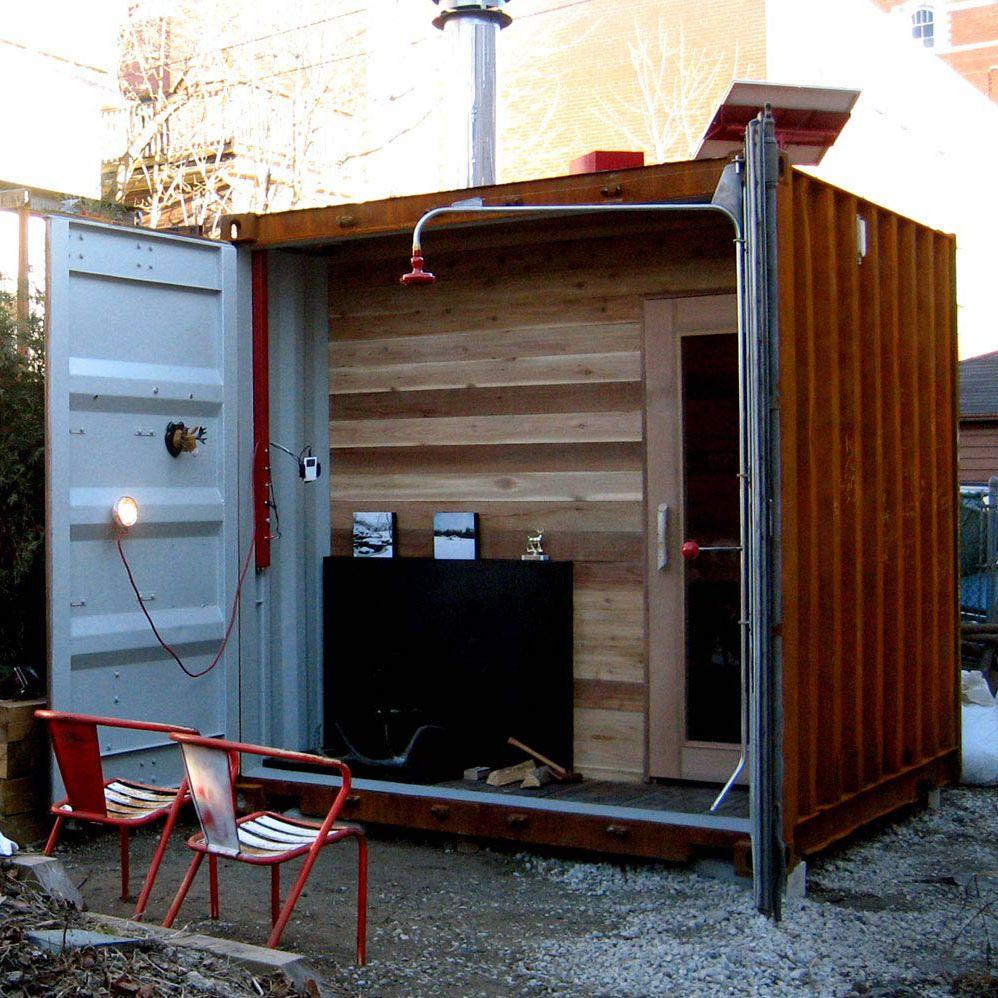 家庭用サウナ S-BOX木製屋外使用