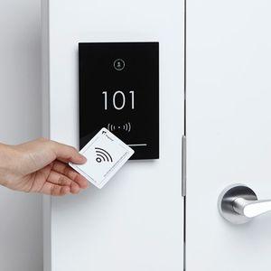 電子ロック / ドア用 / ハンドル付き / RFID