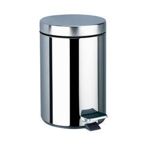 衛生ゴミ箱 / ポリッシュステンレススチール製 / 業務用 / 足操作式
