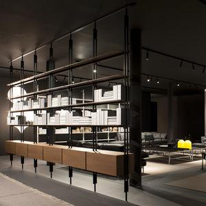 壁掛け本棚 / 床から天井まで / コンテンポラリー / アルミ製