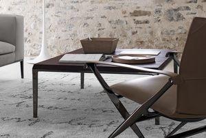 コンテンポラリーコーヒーテーブル / 木製 / MDF / 鋳造アルミニウム製