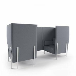 モジュール式ソファー / コンテンポラリー / 布製 / アルミ製