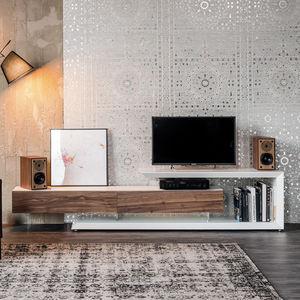 コンテンポラリーテレビキャビネット / ローボード / 漆木材 / クルミ材