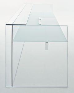 ステンレススチール製受付カウンター / ガラス製