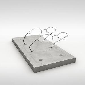 カウンタートップ展示用ラック / 眼鏡 / コンクリート製 / 店用