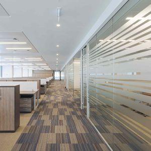 取り外し可能仕切り / ガラス / オフィス用 / オープン スペース用