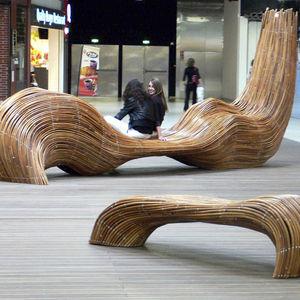 公共ベンチ / オリジナルデザイン / 木製 / オーダーメイド