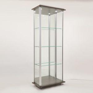 コンテンポラリー展示ケース / ガラス製 / 木製 / アルミ製