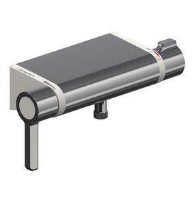 シャワー用2ハンドル混合水栓 / 壁上 / クロムメッキ金属 / サーモスタット