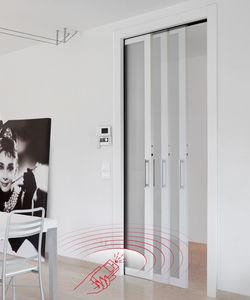 間仕切りドア用自動装置