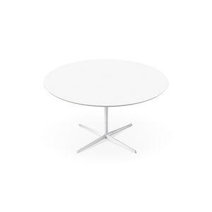 コンテンポラリーダイニングテーブル / MDF / アルミ製 / 丸形