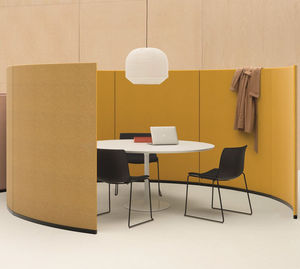 布製スペースの区切り / 業務用 / モジュール式 / 自立型
